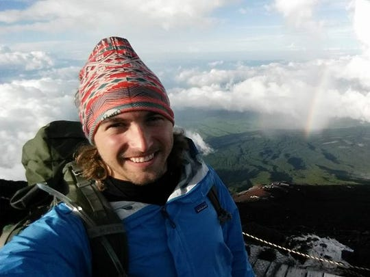 "Hunter Sipes poses for a photo while he climbs Mt. Fuji during a recent trip to Japan. The Stevens Point native has advanced to the national finals of the NBC program ""American Ninja Warrior."""