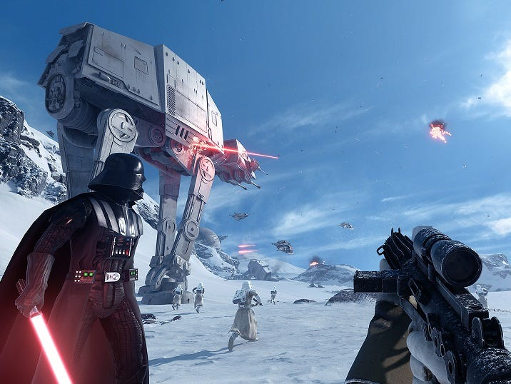 A scene from 'Star Wars Battlefront.'