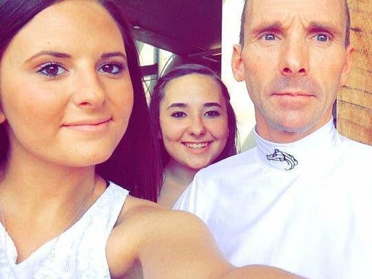 Terry Houghton and his daughters