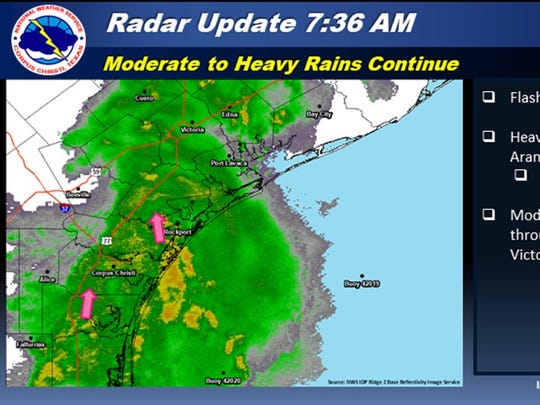 The Flash Flood Watch has been extended through tonight for much of South Texas.