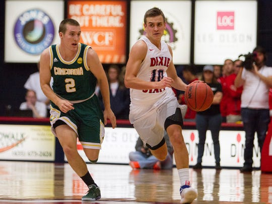 Dixie State mens basketball takes on Concordia Saturday, Dec. 3, 2016.