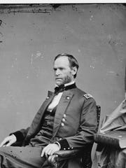 In this undated photo provided by the Library of Congress Gen. William T. Sherman poses for a photo. On Nov. 16, 1864, Sherman watched his army pull out of Atlanta, and marched with 62,000 veteran troops to the Atlantic coast at Savannah, conquering territory and making a point to the enemy in what would be known as Sherman's March to the Sea during the American Civil War.