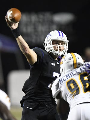 Under first-year coach Clay Hendrix, senior quarterback P.J. Blazejowski, above, and the Furman offense will be moving at a faster tempo in the 2017 season.