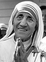 Marie Constantin's original photo of Mother Teresa.