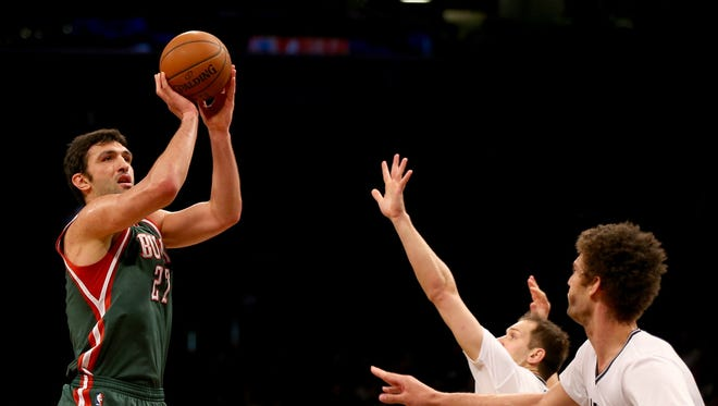 Former Bucks center Zaza Pachulia hasn't connected on a three-point shot during his NBA career.