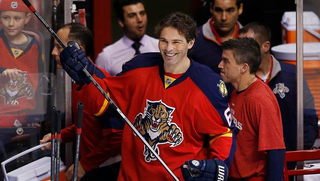 Jaromir Jagr chatted with the Philadelphia media recently about his time with the Flyers.