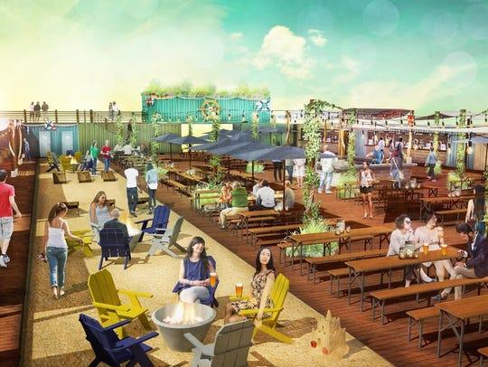 The Constitution Yards Beer Garden in Wilmington will