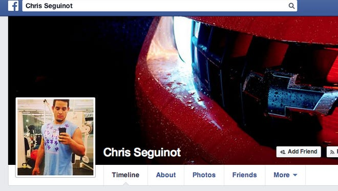 Christopher Seguinot, seen in an image taken from his Facebook page.