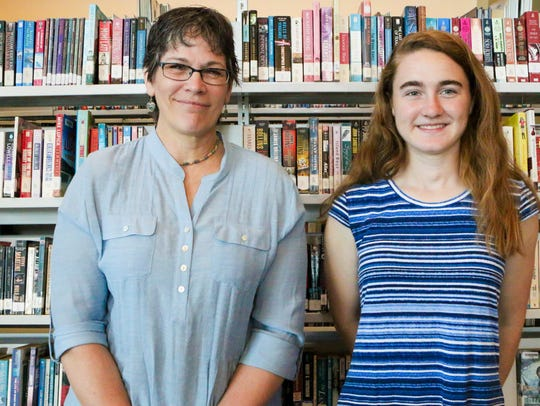 Sarah Hollen, right, with mentor Cynthia Hitz.