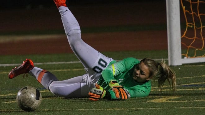 Royal High goalkeeper Marissa Froio chose to play her senior season at Royal High this year, rather than play in the U.S. Soccer Development Academy with her club, Eagles SC.