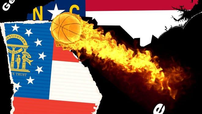 Georgia vs. North Carolina Challenge.