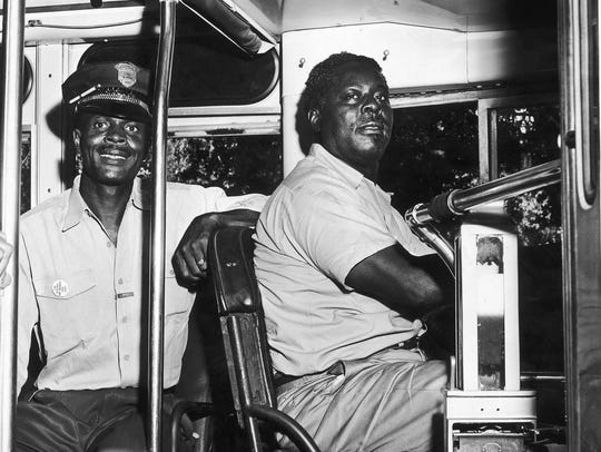 David Moore, one of first two black drivers hired by