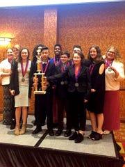 The academic pentathlon team from Northeast Middle