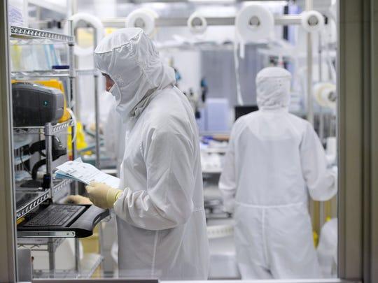 Talon Innovations employees work Wednesday, Aug. 17,
