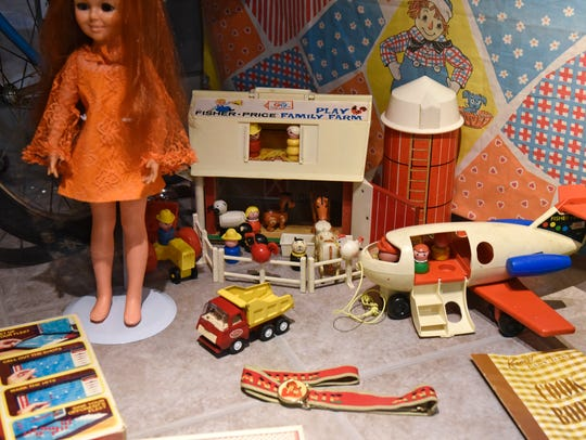 A selection of vintage toys is part of the Navigating
