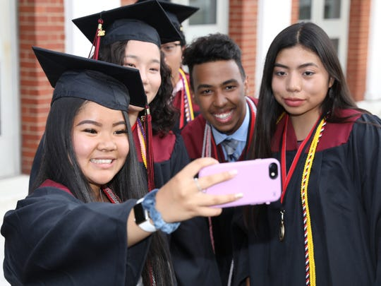 Nyack High School holds their  graduation ceremony at MacCalman Field on Thursday, June 21, 2018.