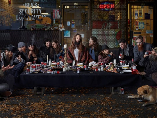 Dina Goldstein, Last Supper, 2014, Archival pigment