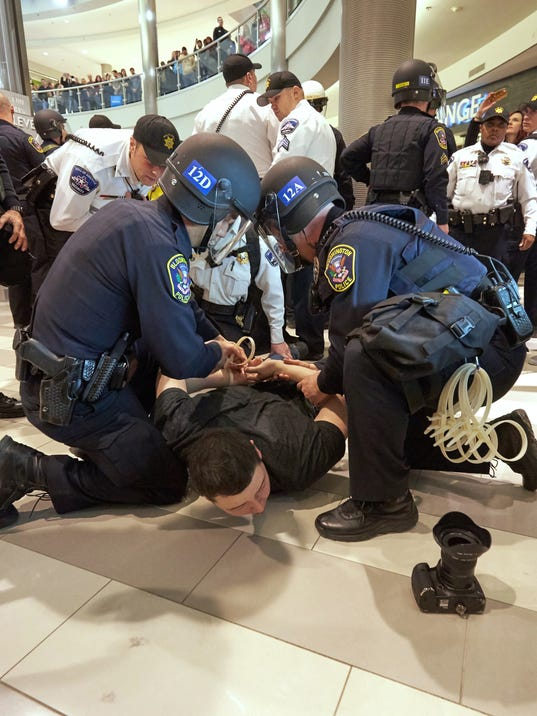 Black Lives Matter Protest Disrupts Holiday Shoppers At Mall Of America