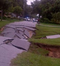 Gallery: Sinkhole in Central Florida