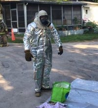 Meth lab bust at Inverness mobile home park