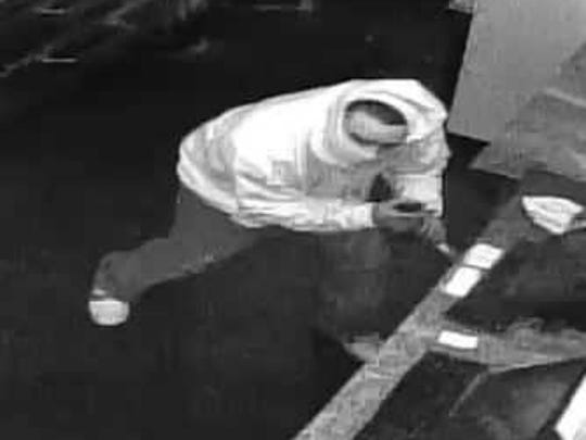 A third shot of the suspected Sons of Sicily theft suspect.