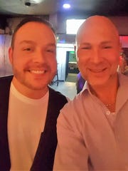Gents on the town – We spotted long-time friends Todd