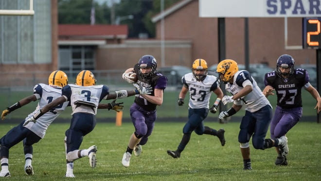 Lakeview's Cameron Gillette is a key player in the backfield for the  Spartans in 2017.