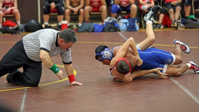 The opening round of the Section 1 Wrestling Dual Meet Championships with  Clarkstown South, Eastchester, Port Chester and White Plains at Clarkstown South High School in West Nyack Dec. 7, 2016