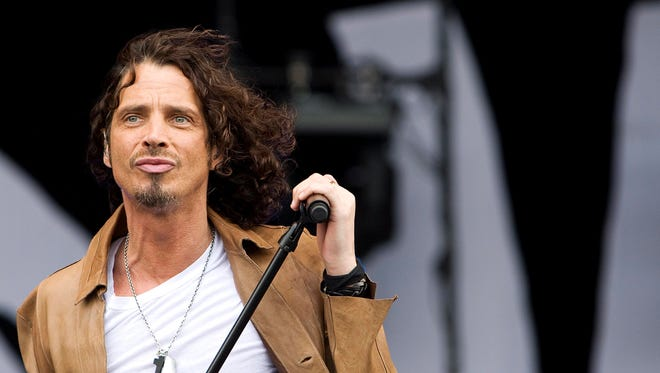 Chris Cornell, known from the rock groups Soundgarden and Audioslave, performs during a concert at Pinkpop 2009, in Landgraaf, The Netherlands, in May 2009.