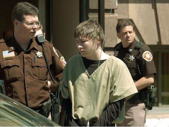 Brendan Dassey is led out of the Manitowoc County Courthouse following a motion hearing in May 2006.