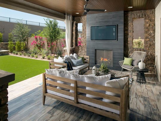 Patios at Cadiz at Sedella are ideal for an outdoors