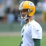 Packers receiver Myles White during training camp practice at Ray Nitschke Field.