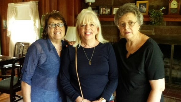From left are Maria Lora (who 50 years ago was an exchange student from Peru), Barb Browning Whiteamire and Cathy Tucker Schmidt.