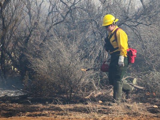 Prescribed burn at San Angelo State Park