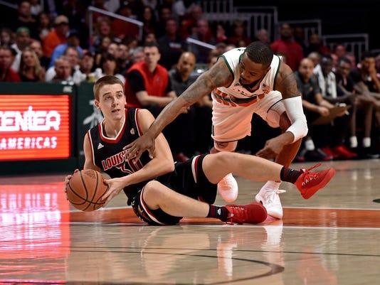 NCAA Basketball: Louisville at Miami