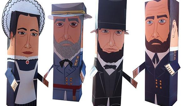 Civil-War paper pals