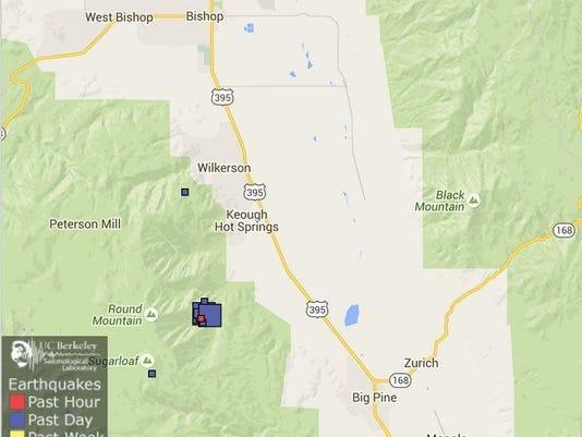 Big Pine earthquake map