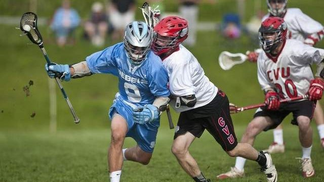 South Burlington's Willy Champagne, left, and Champlain Valley's Zack Evans are members of Division I boys lacrosse title contenders. The Metro teams meet in an early season showdown Wednesday in South Burlington.