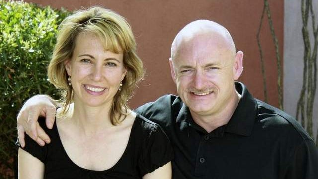 In this undated file photo provided by the office of Rep. Gabrielle Giffords, Giffords, D-Ariz., left, is shown with her husband, NASA astronaut Mark Kelly.