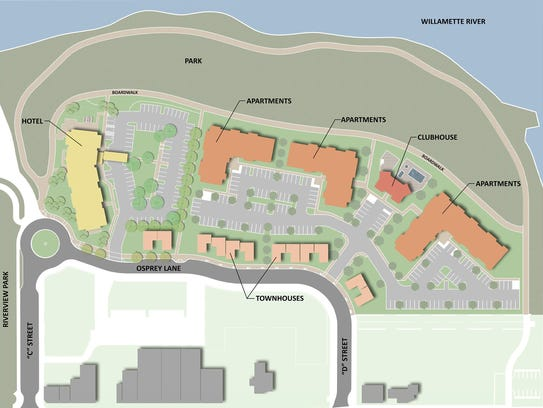 A rendering showing the larger plan for the Tokola