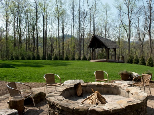 The former site of the Dancing Bear Lodge has been converted to an open lawn for events, such as party's or weddings.