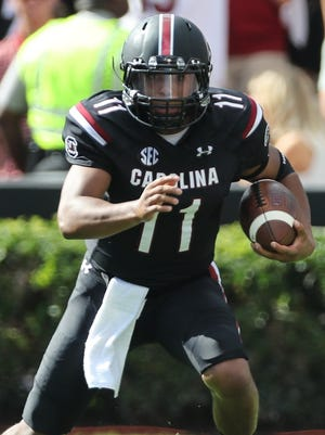 Brandon McIlwain played eight games with three starts as a true freshman last year for South Carolina.