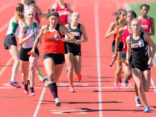 Northville's Clare McNamara (4) helped anchor her 4