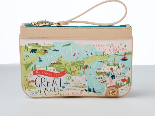The Great Lakes wristlet