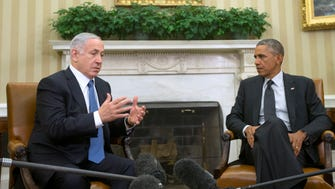 In this Oct. 1, 2014 file photo, President Obama meets with Israeli Prime Minister Benjamin Netanyahu in the Oval Office of the White House in Washington. President Barack Obama will not meet with Netanyahu when he travels to Washington this week.