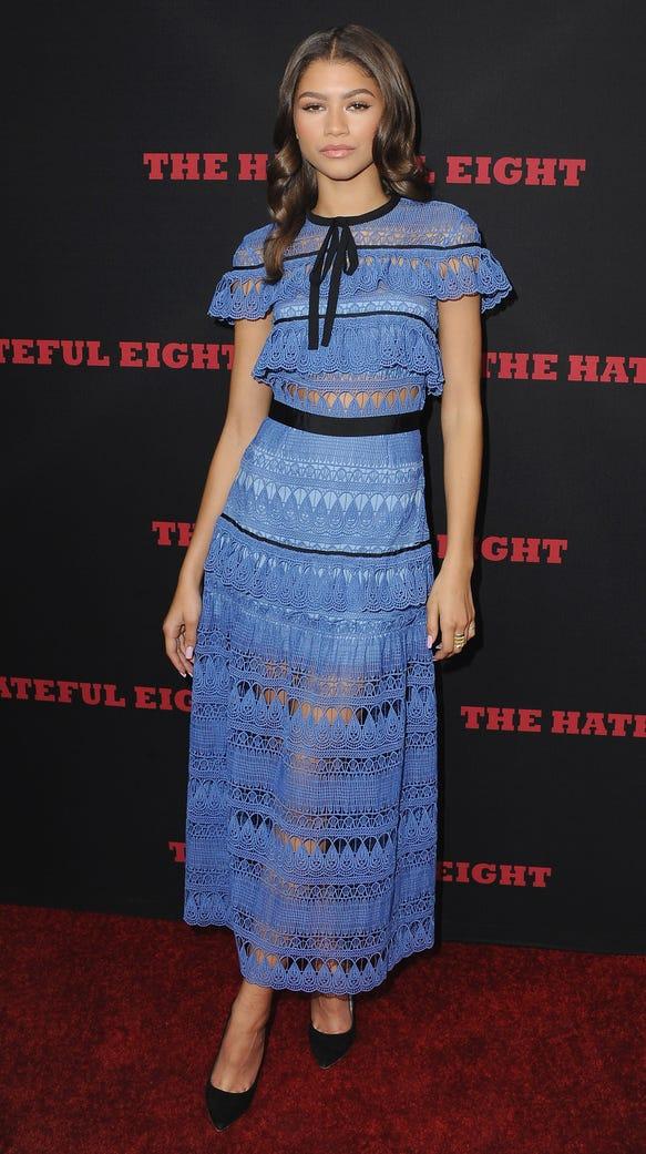 "Zendaya arrives at the Los Angeles Premiere ""The Hateful"