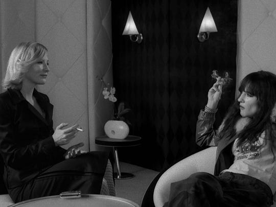 "Cate Blanchett and Cate Blanchett in ""Coffee and Cigarettes."""