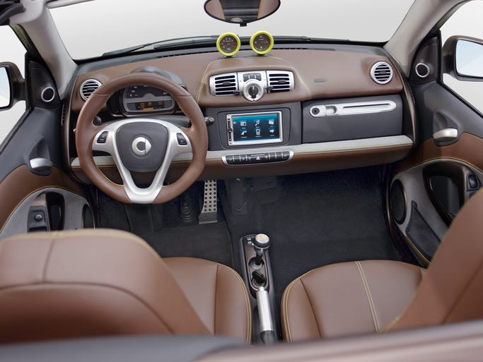 From Chrysler's Garmin-based UConnect to Ford's SYNC, vehicle infotainment systems are not created equal. The ante is rising as smartphones start to be integrated. Smart was one of four automakers to debut the Apple CarPlay system at the 2014 Geneva International Motor Show. The Smart ForTwo system is pictured.