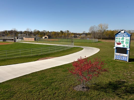 Brian Deyak, ProFields, has been working on the baseball and soccer fields shown Thursday, Oct. 13, at Pinecone Central Park in Sartell.