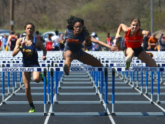 Mansfield Senior's Alaya Grose made the podium four times in Saturday's 84th Mehock Relays, including a gold medal performance in the 100 meter hurdles.